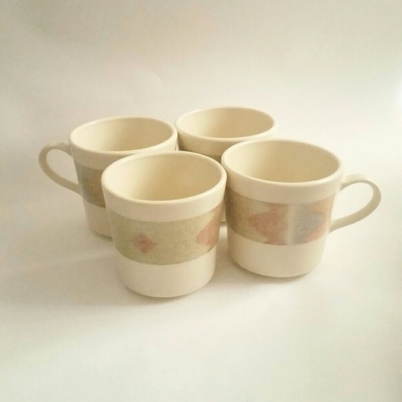 Vintage Dining Set Of Vintage Corning Coffee Mugs Cups Abstract Poshmark
